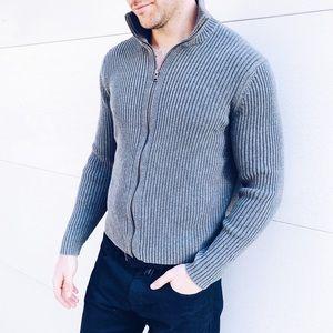 Men's Express Ribbed Zip Up Sweater